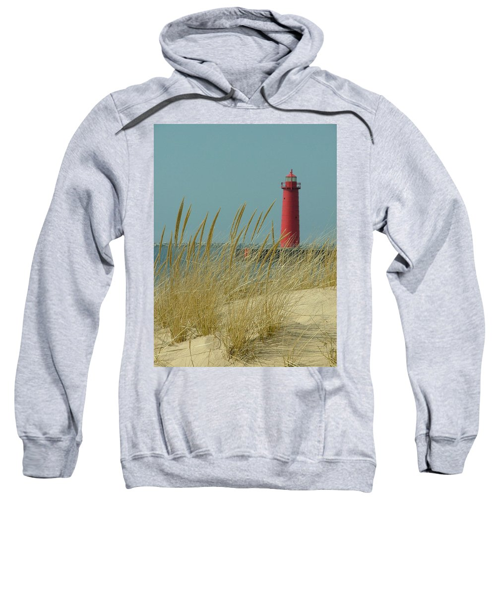 Landscape Sweatshirt featuring the photograph Muskegon Light House by Dennis Pintoski
