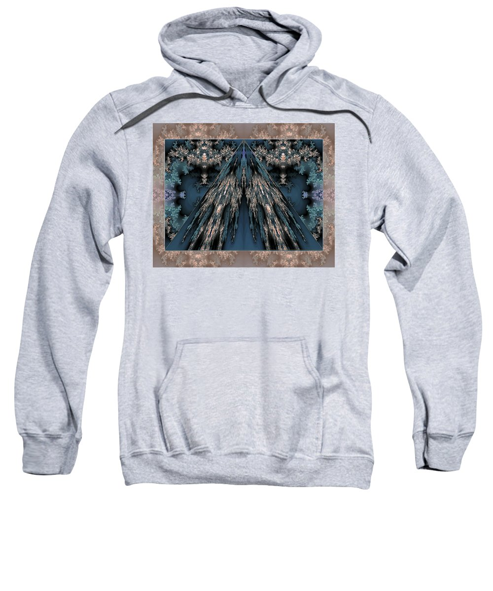 Fractal Sweatshirt featuring the photograph My Mountain by Mother Nature