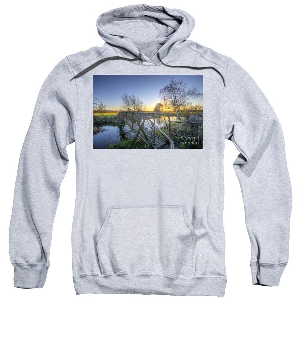 Landscape Sweatshirt featuring the photograph Narrow Iron Bridge by Yhun Suarez