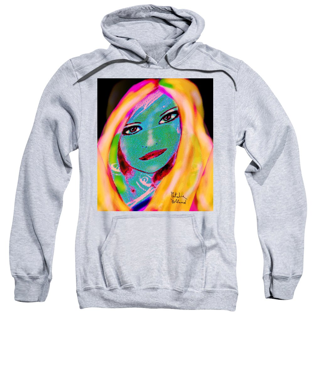 Portrait Sweatshirt featuring the painting Nat 1 by Natalie Holland