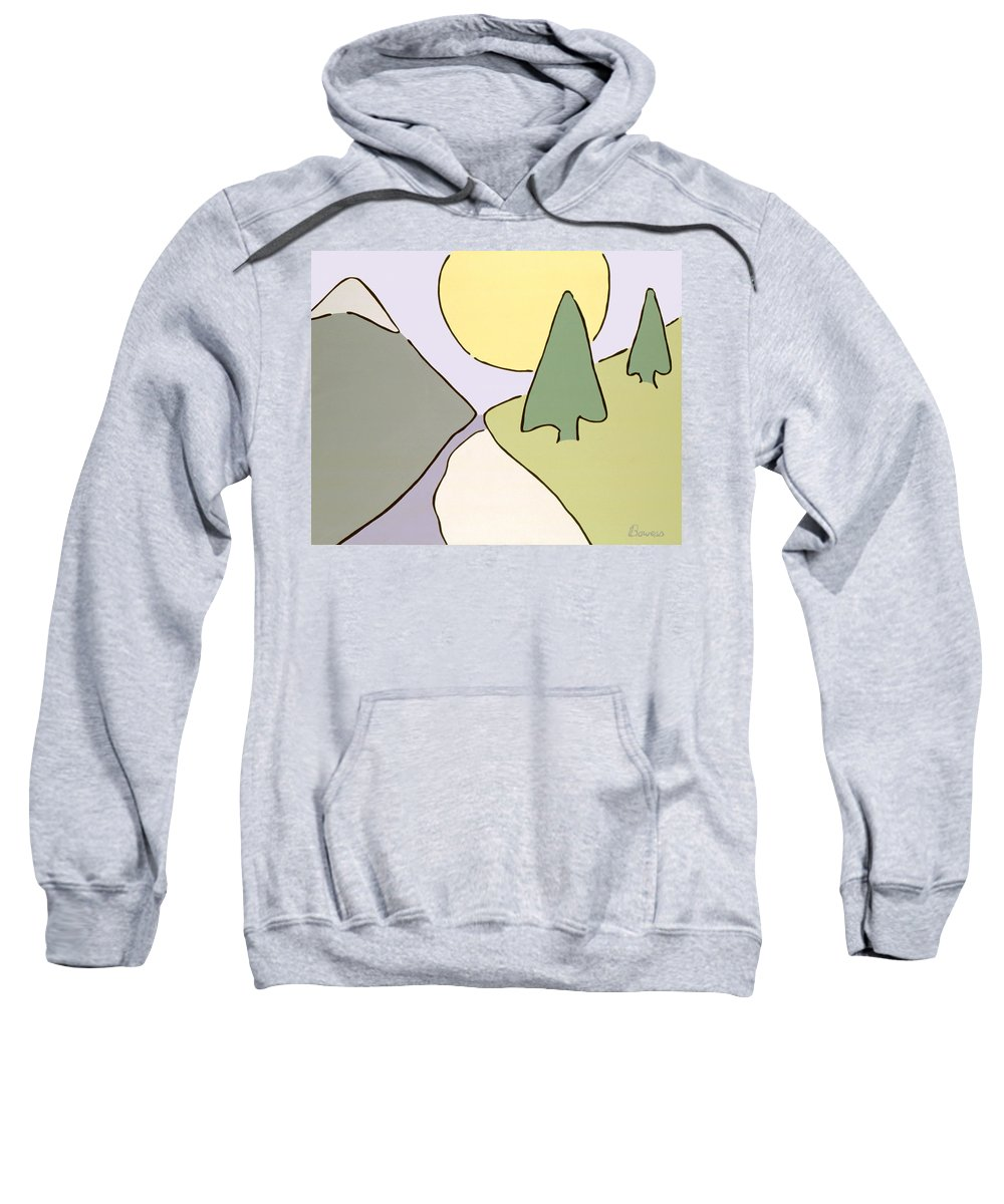 Nature Sweatshirt featuring the painting Natural Balance by John Bowers