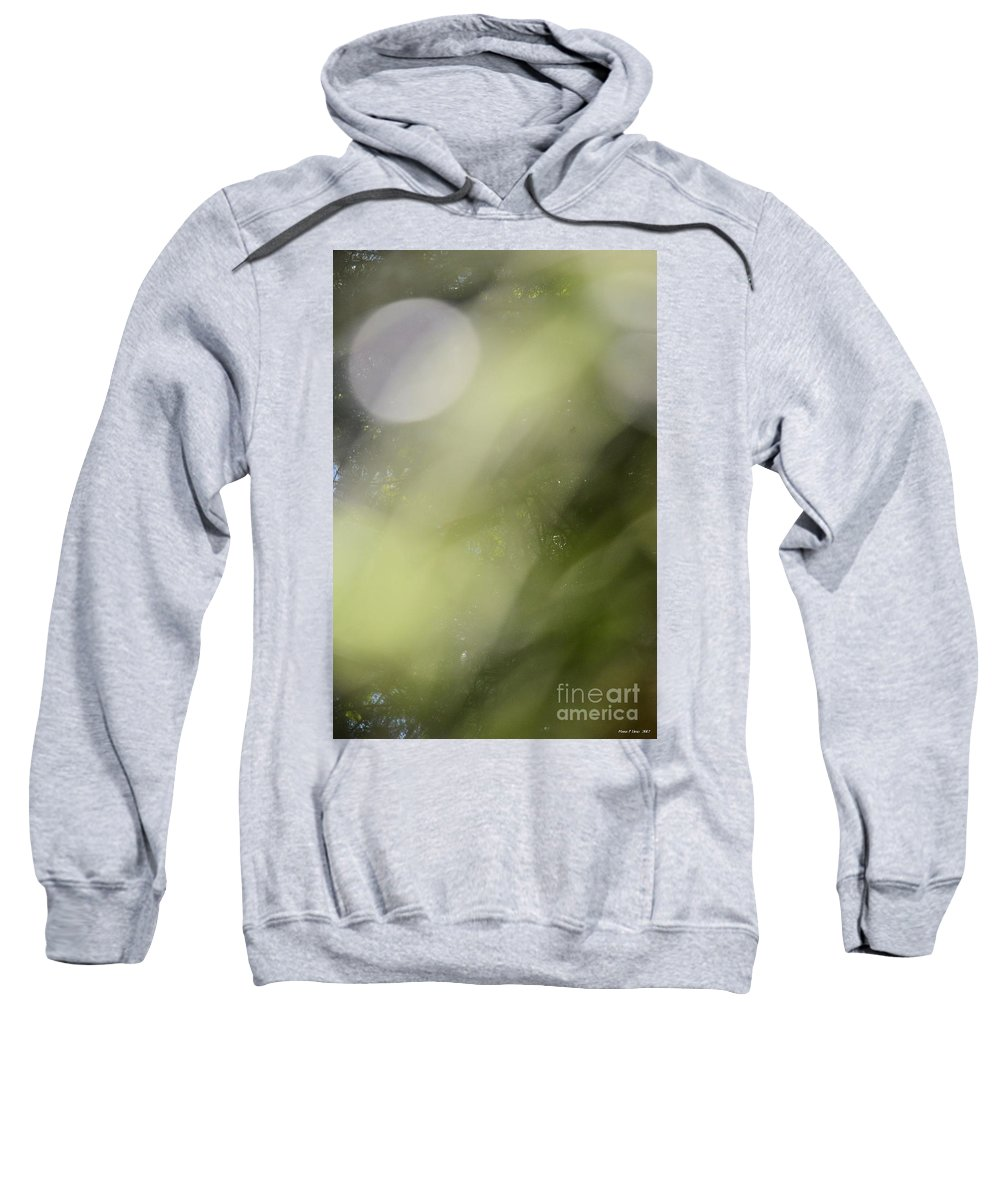 Nature Sweatshirt featuring the photograph Nature's Green Abstract by Maria Urso