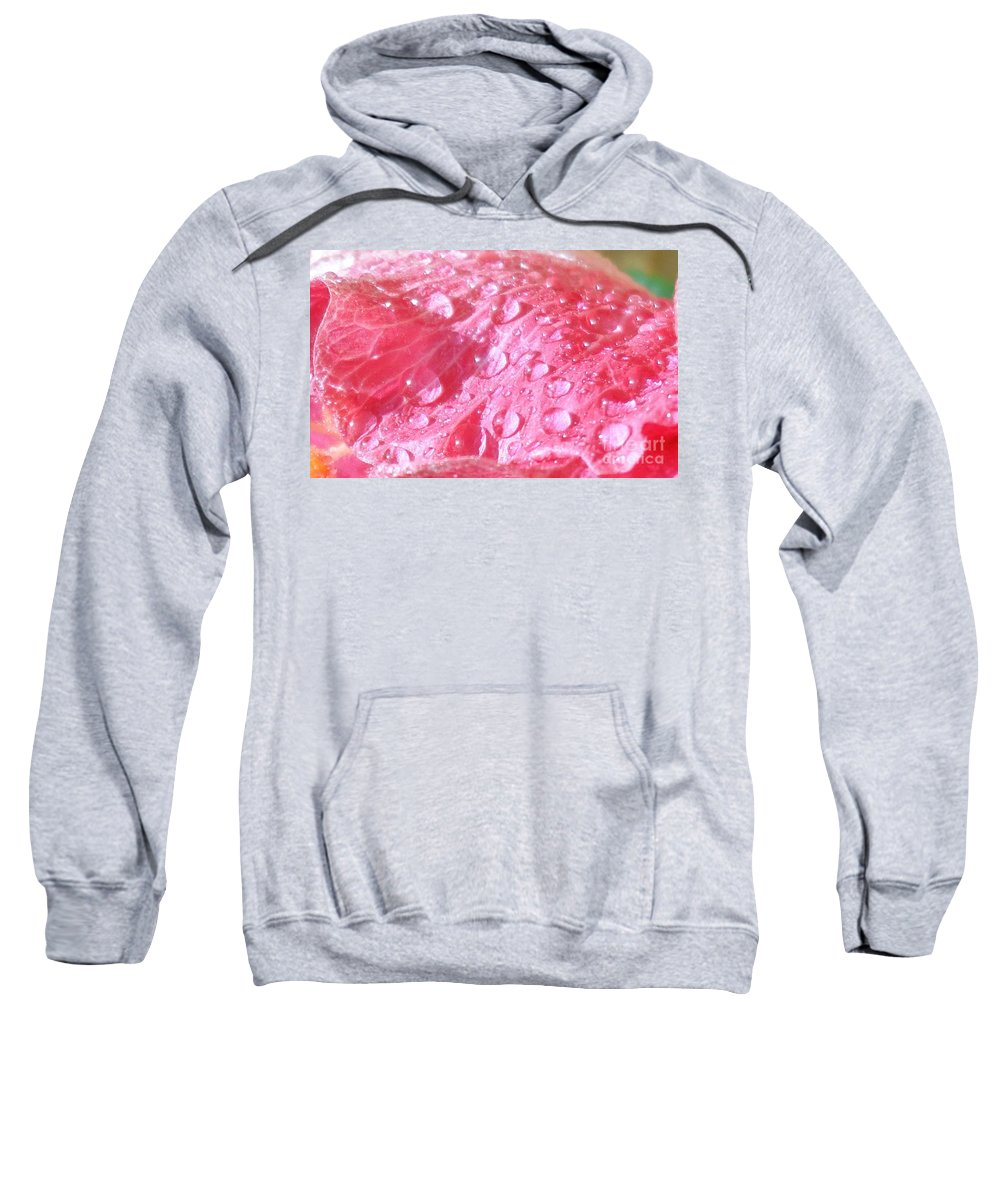 Floral Sweatshirt featuring the photograph Nature's Tears by Maria Bonnier-Perez