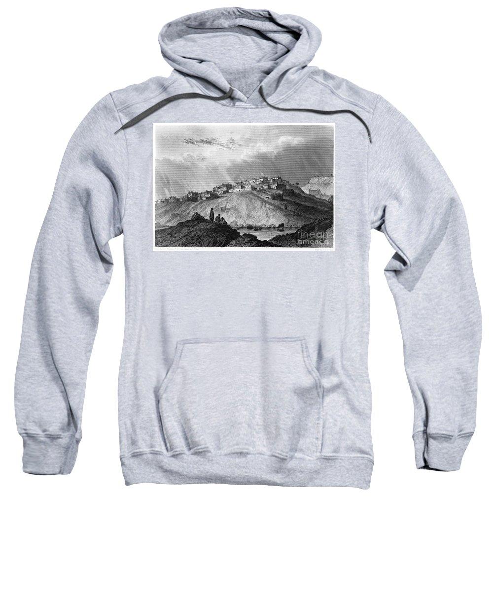 1854 Sweatshirt featuring the photograph New Mexico: Laguna Pueblo by Granger