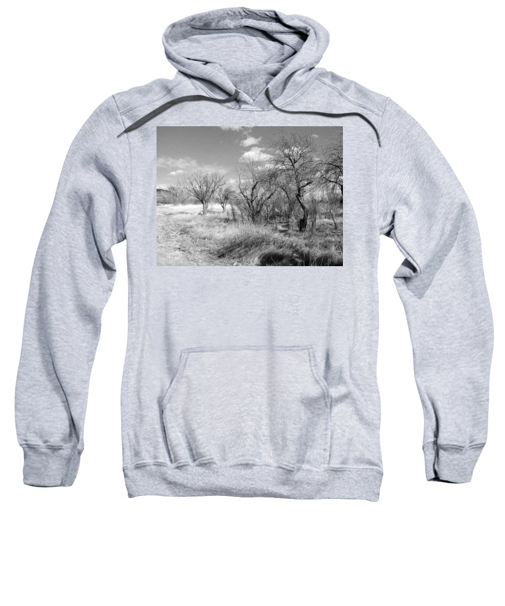 Landscape Sweatshirt featuring the photograph New Mexico Series - Bare Beauty by Kathleen Grace
