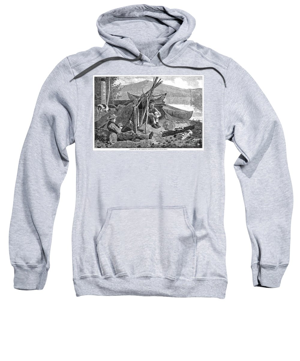 1874 Sweatshirt featuring the photograph New York: Camping, 1874 by Granger