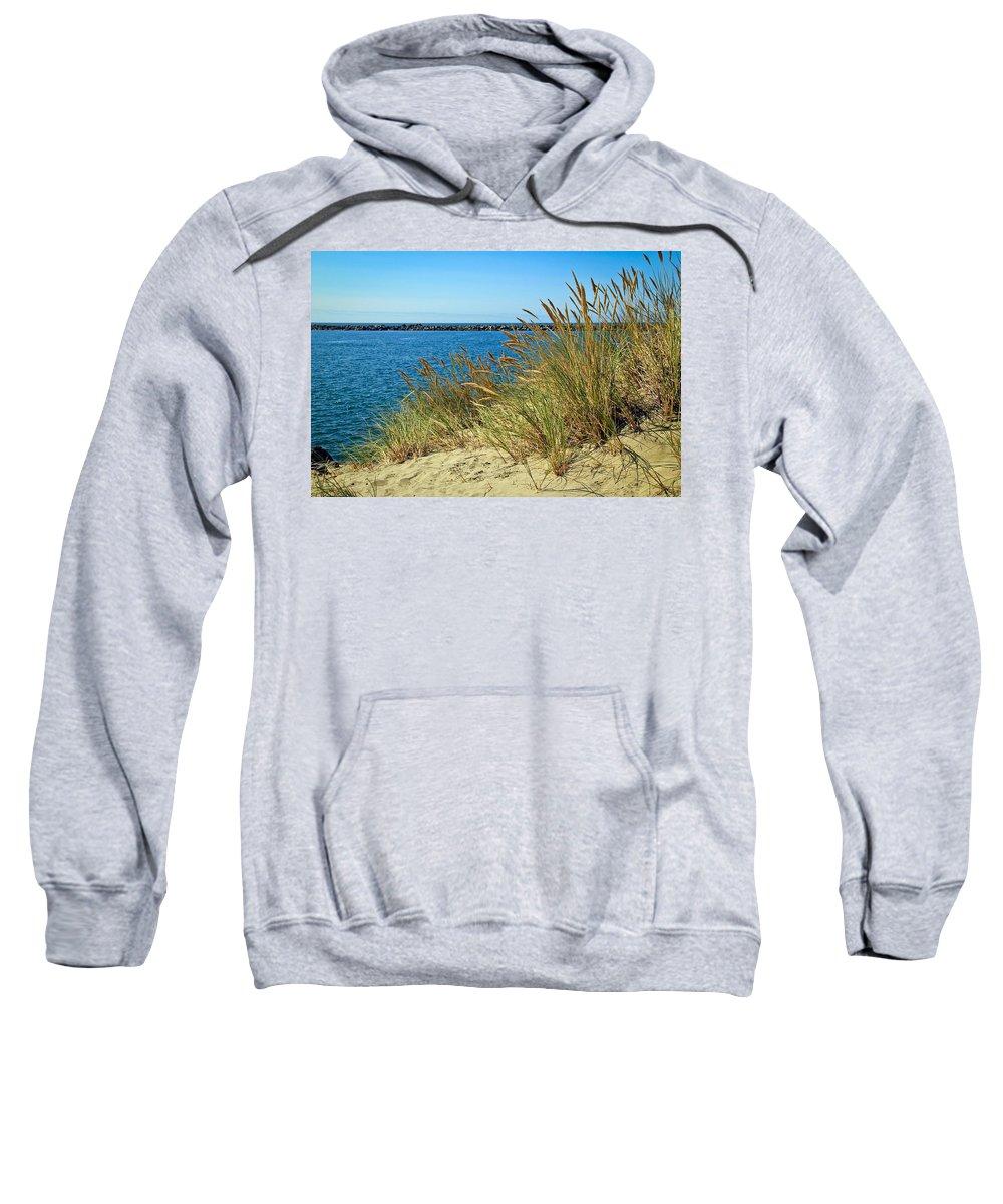 Newport Bay In Oregon Sweatshirt featuring the photograph Newport Bay In Oregon by Athena Mckinzie