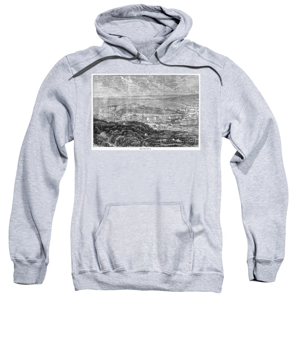 1863 Sweatshirt featuring the photograph Nice, France, 1863 by Granger