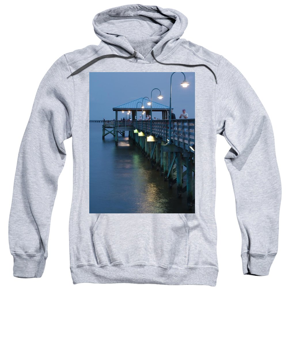 Fishing Sweatshirt featuring the photograph Night Fishing by Anthony Walker Sr