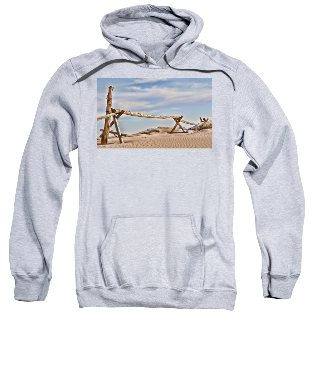 Coral Pink Sand Dunes Sweatshirt featuring the photograph No Trespassing by Heather Applegate