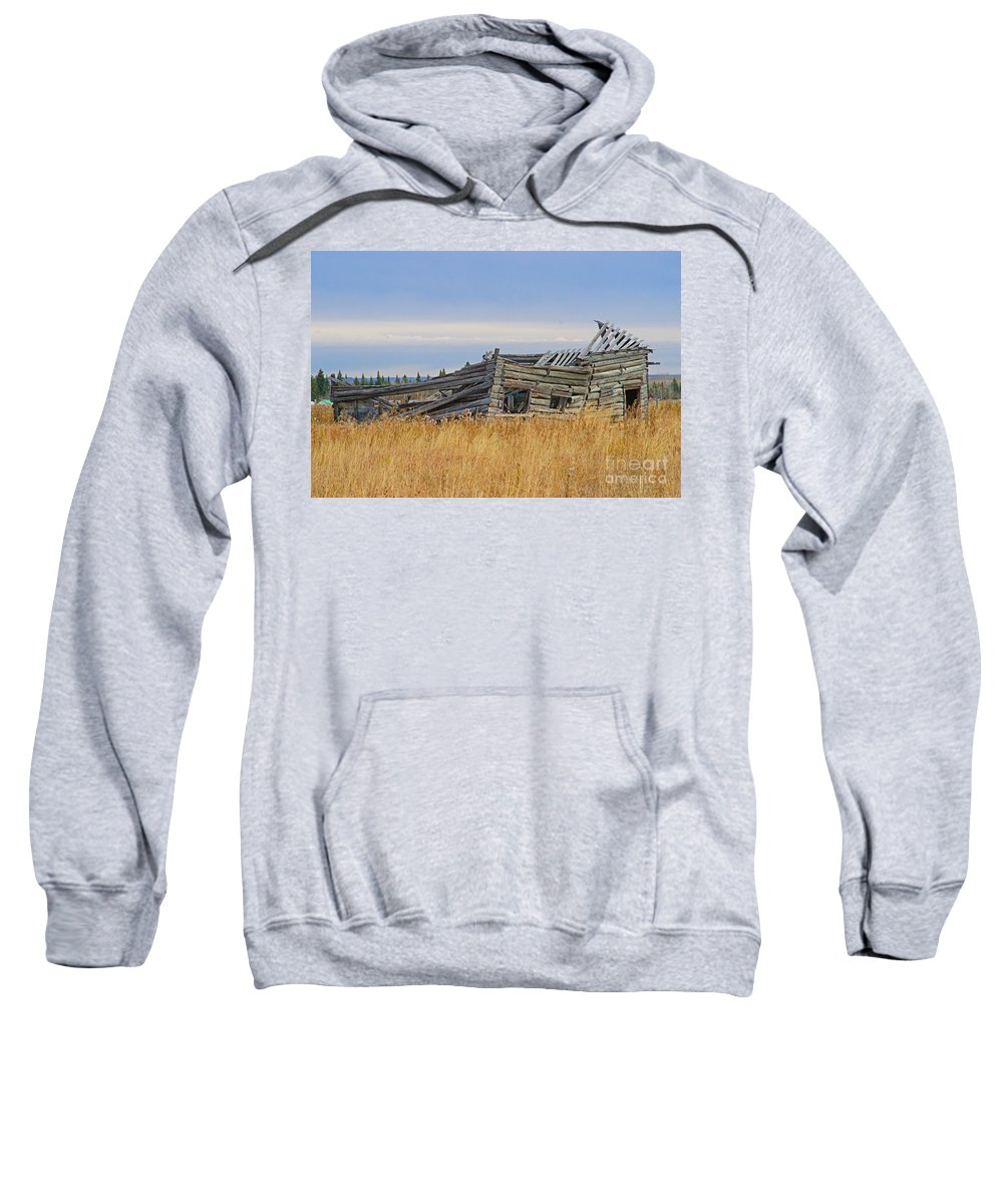 Old Barn Sweatshirt featuring the photograph Not Much Left by Randy Harris