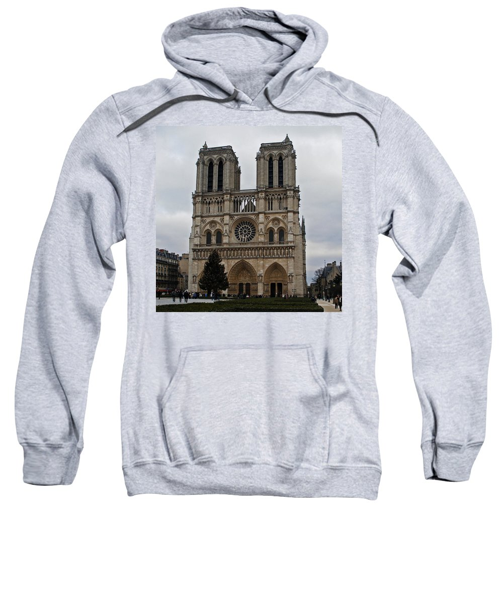 Notre Dame Sweatshirt featuring the photograph Notre Dame De Paris by David Pringle