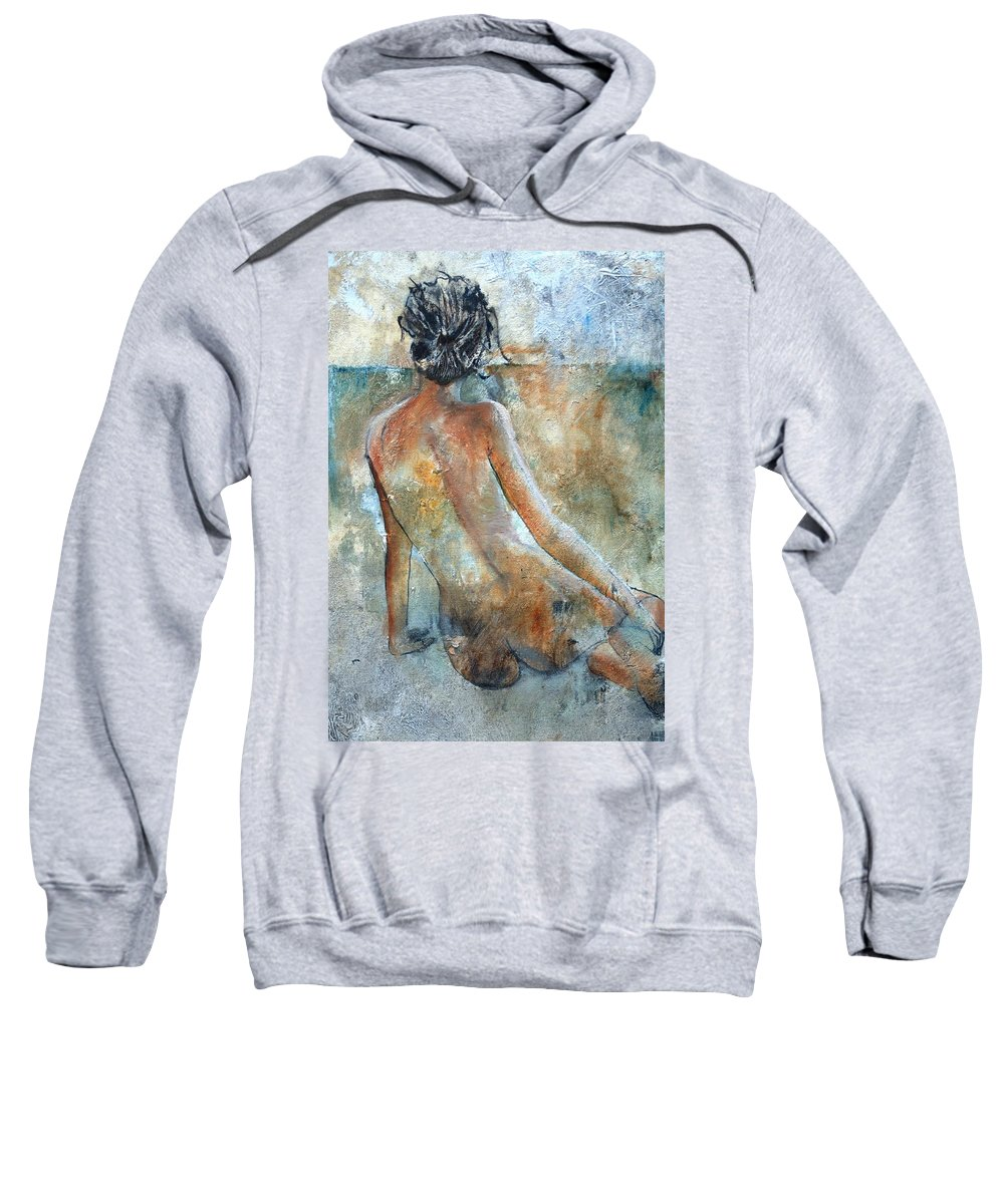 Nude Sweatshirt featuring the painting Nude 564213 by Pol Ledent