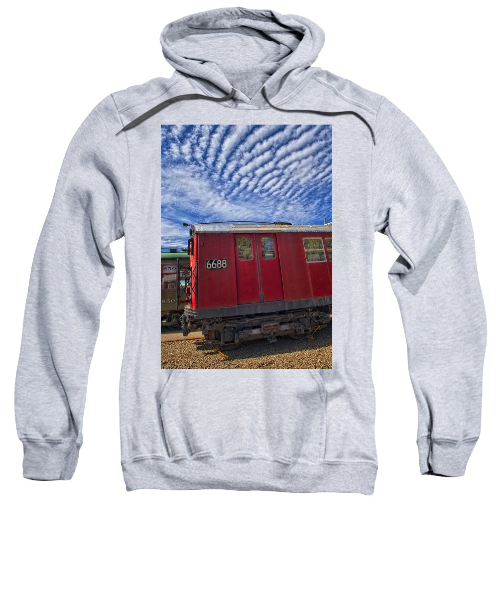 Number 7 Train Sweatshirt featuring the photograph Nyc Subway No 7 by Susan Candelario