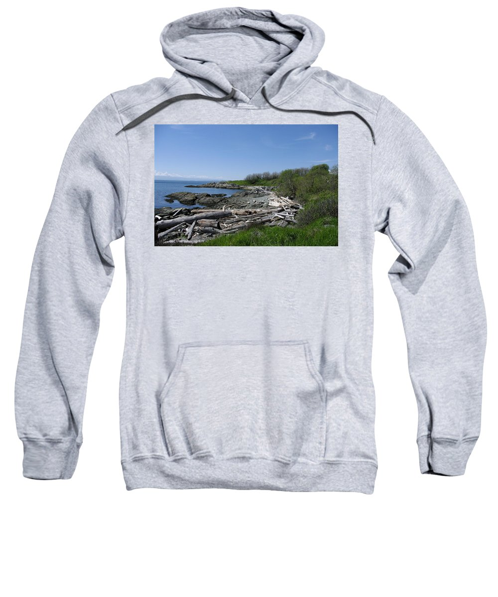 Ocean Sweatshirt featuring the photograph Ocean Beach Vancouver Island by John Greaves