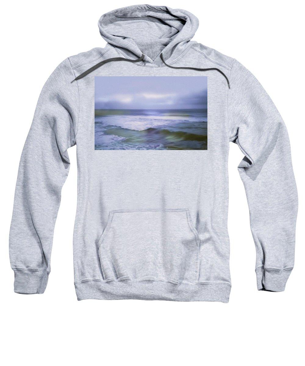 Ocean Sweatshirt featuring the painting Ocean Dreamscape by Georgiana Romanovna