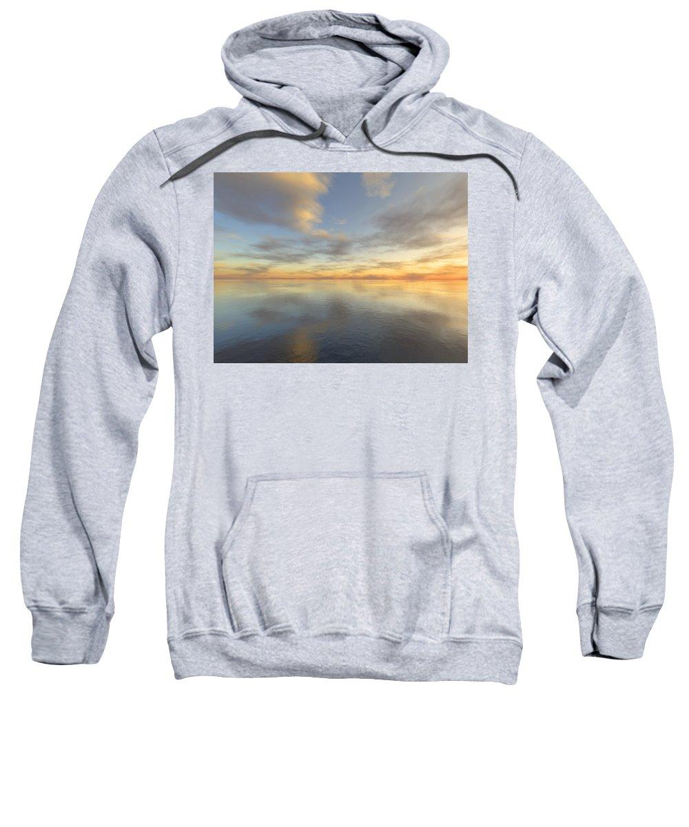 Ocean Sweatshirt featuring the digital art Ocean by Mark Greenberg