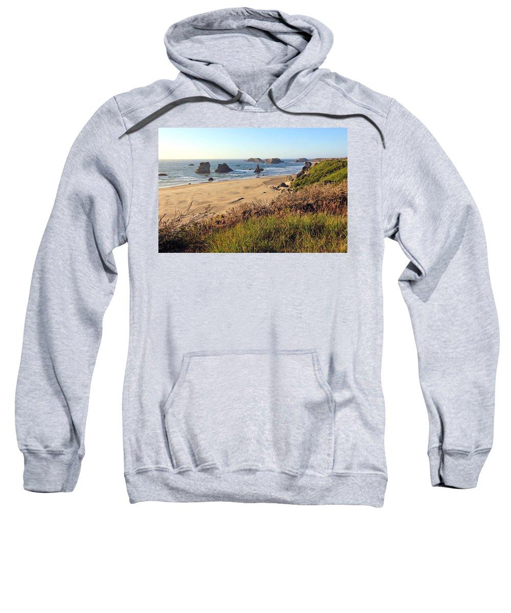 Bandon Oregon Beaches Sweatshirt featuring the photograph Bandon Oregon Shorelines by Athena Mckinzie