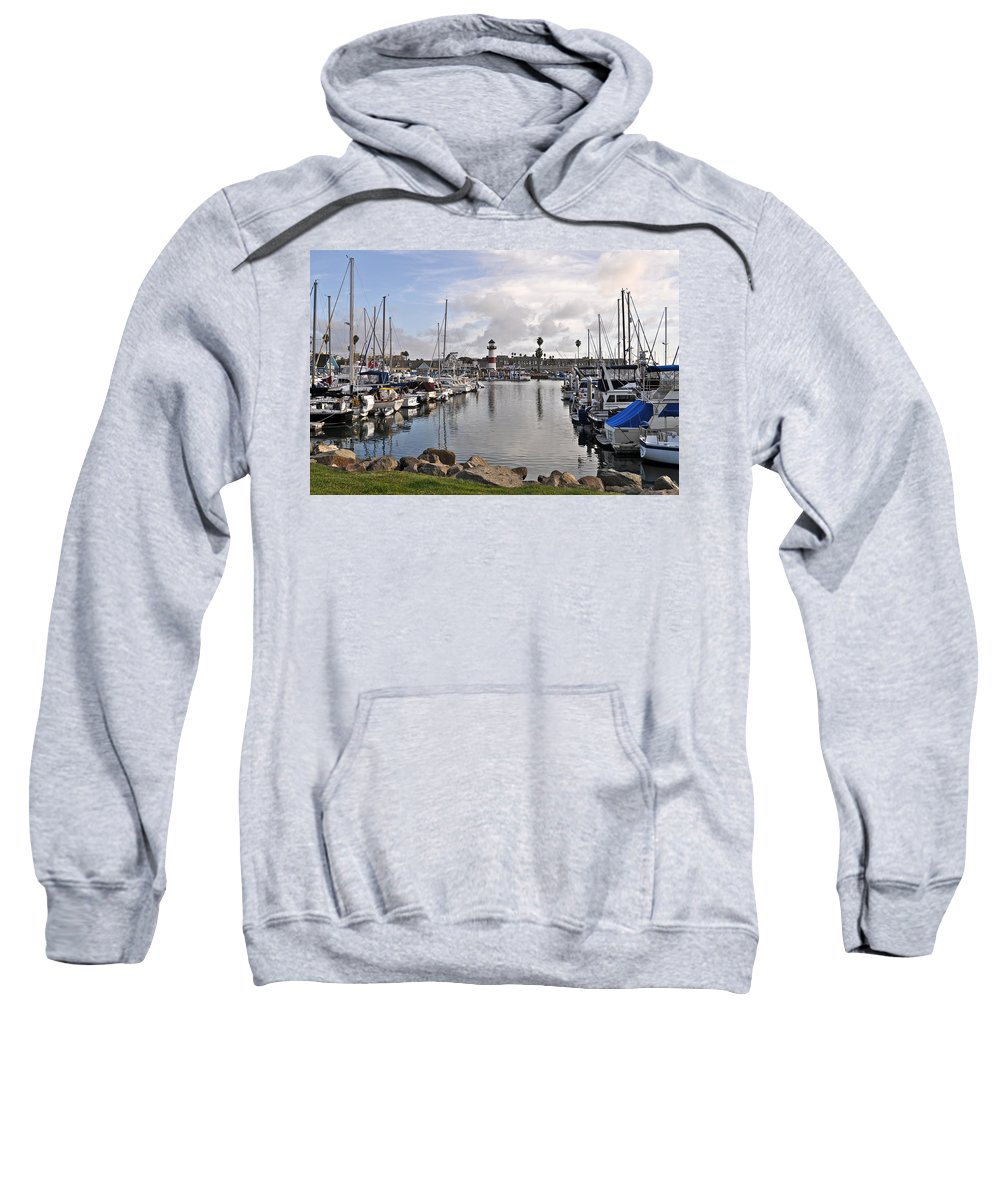 Light House Sweatshirt featuring the photograph Oceaside Harbor by Bridgette Gomes