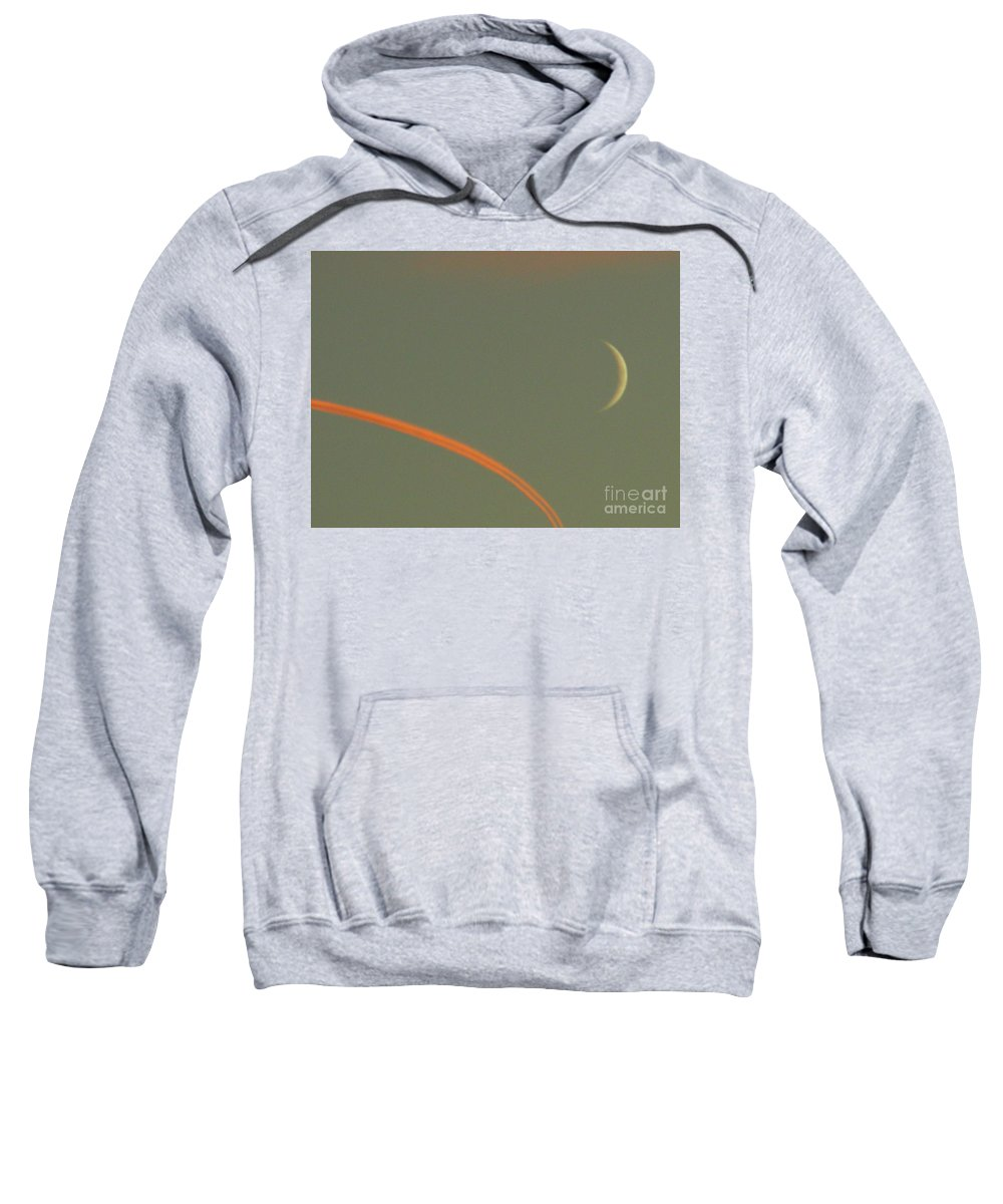 Moon Sweatshirt featuring the photograph October 14 2007 by Mark Gilman