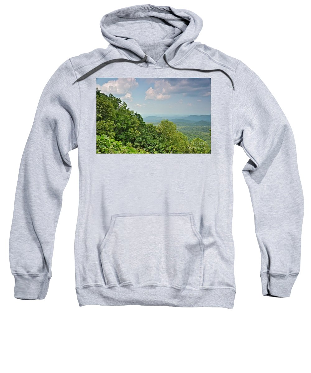 Mountains Sweatshirt featuring the photograph Oh Beautiful For Spacious Skies by Carol Bradley