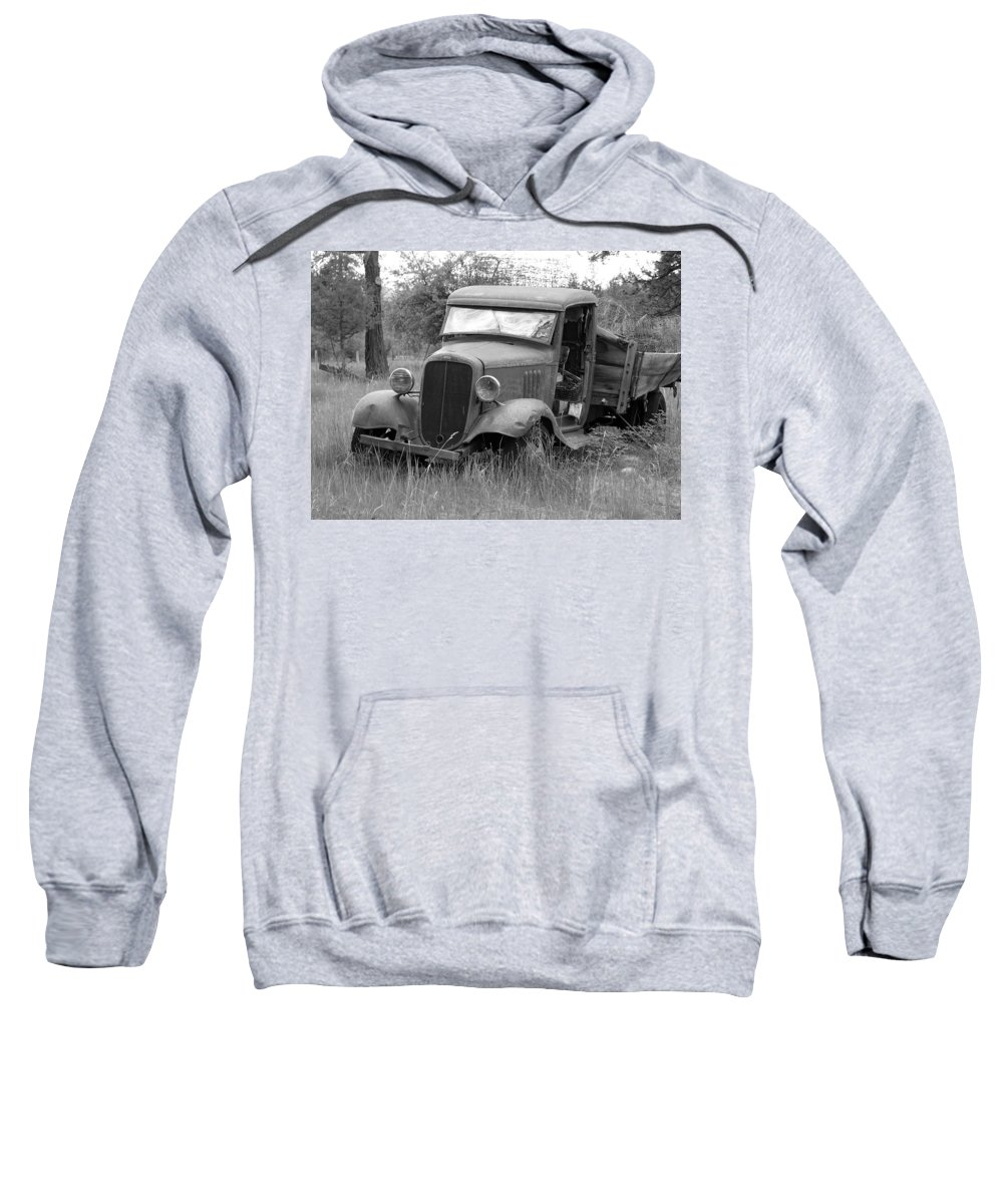 Hot Rod Sweatshirt featuring the photograph Old Chevy Truck by Steve McKinzie