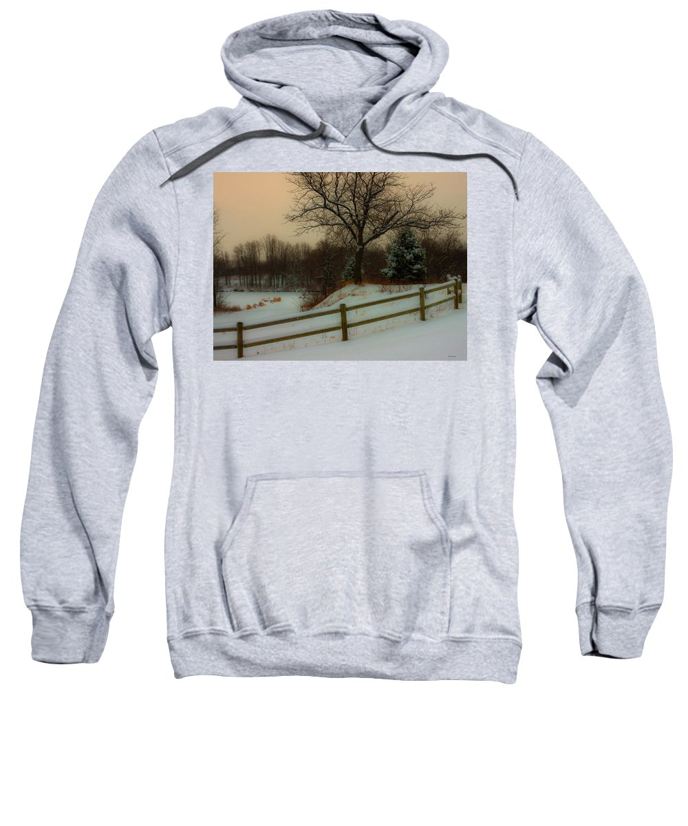 Winter Scene Sweatshirt featuring the photograph Old Fashiion Winter by Edward Peterson
