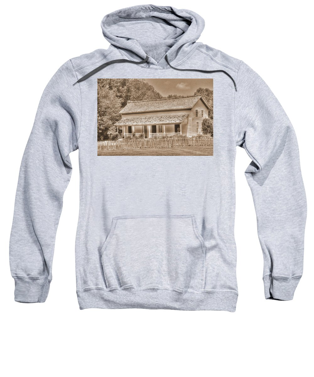 Old Homestead Sweatshirt featuring the photograph Old House In The Cove by Barry Jones