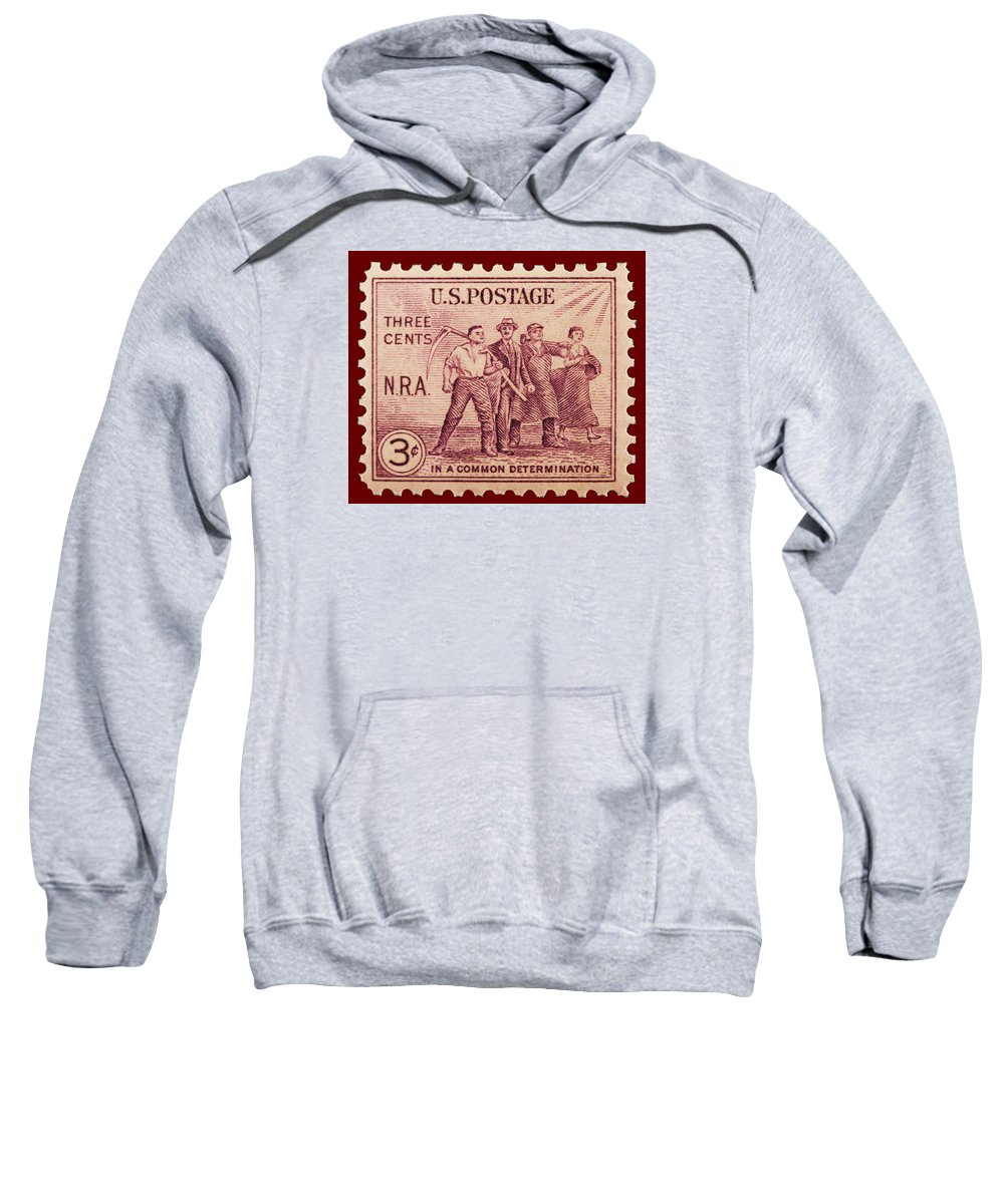 Old Nra Postage Stamp Sweatshirt featuring the photograph Old Nra Postage Stamp by James Hill
