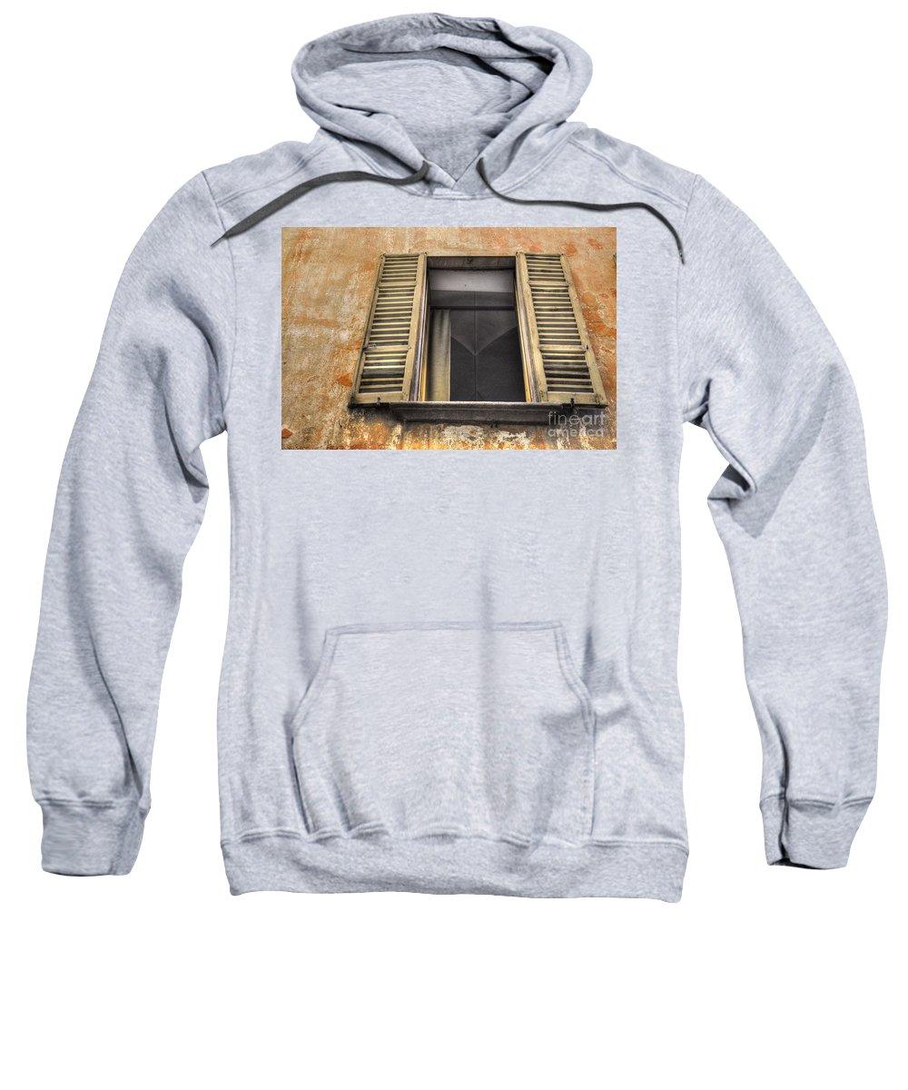 Window Sweatshirt featuring the photograph Old Open Window by Mats Silvan