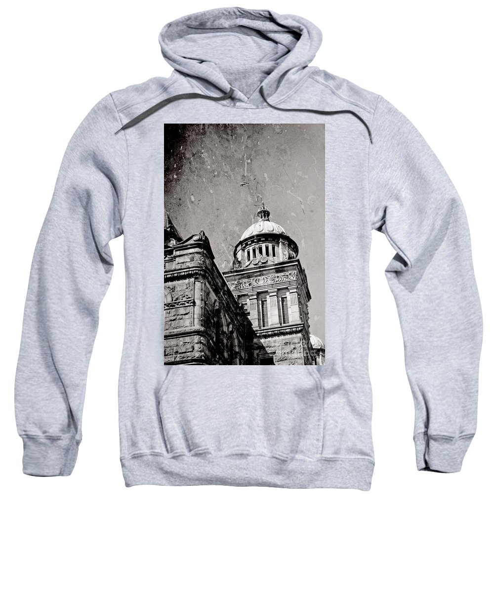 British Columbia Sweatshirt featuring the photograph Old Parliament In Bc by Traci Cottingham