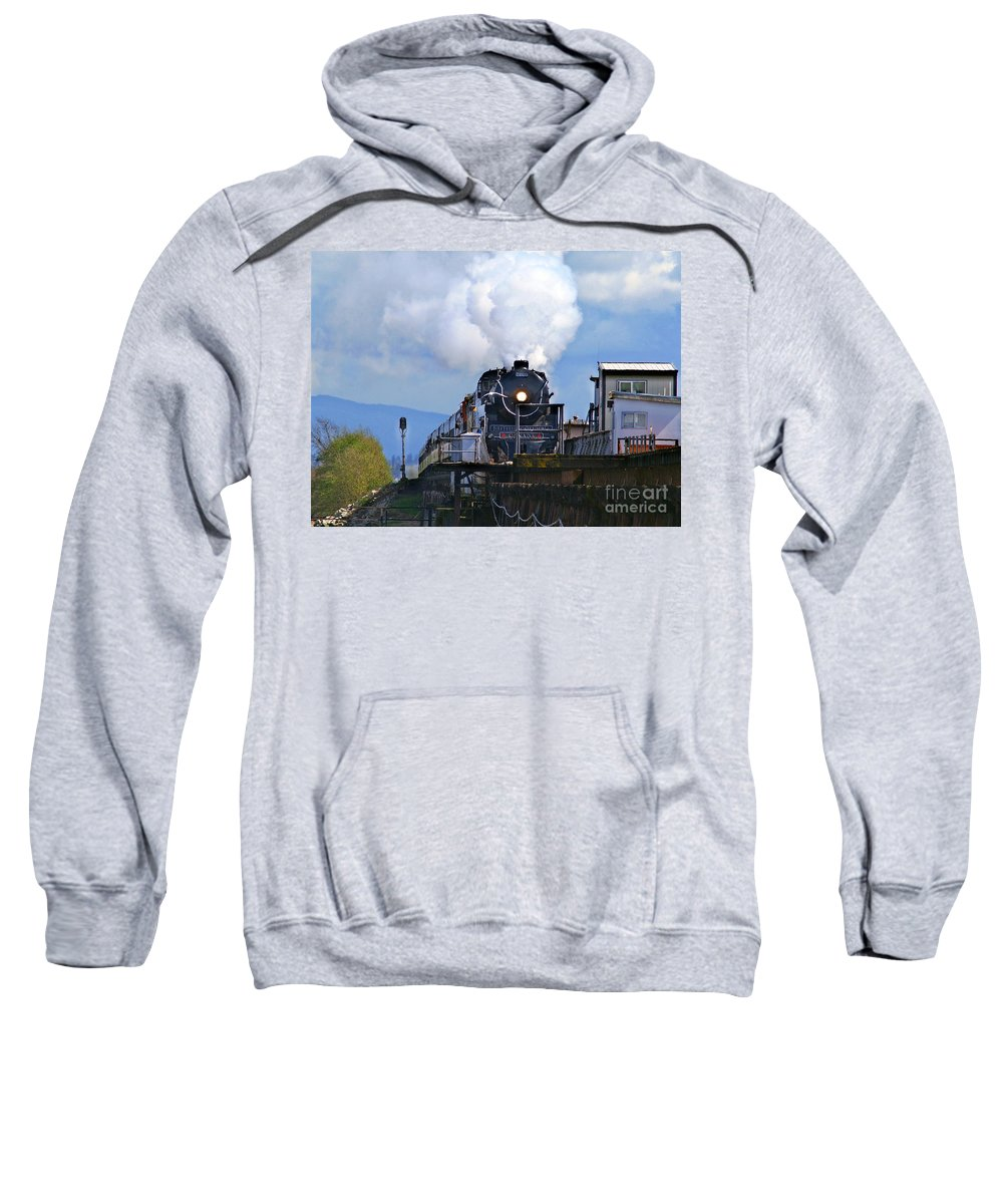 Trains Sweatshirt featuring the photograph Old Steam Train by Randy Harris