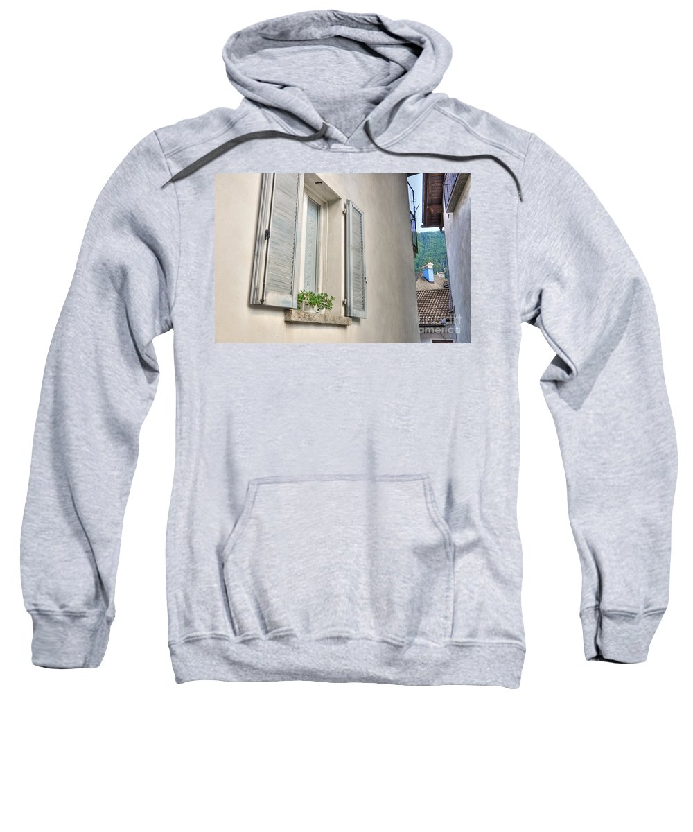 Window Sweatshirt featuring the photograph Old Window With Shutter by Mats Silvan