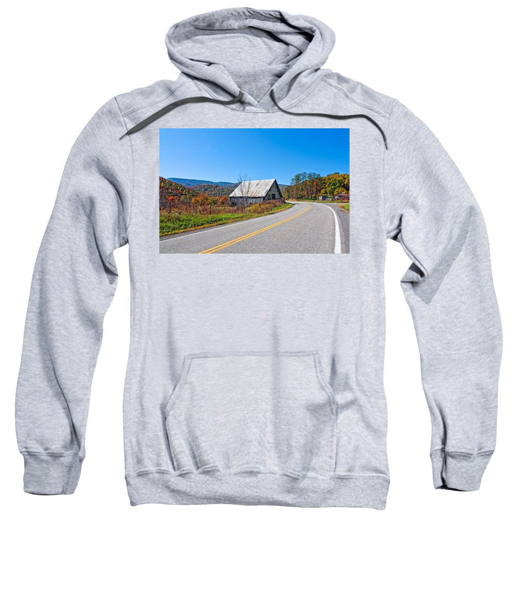 West Virginia Sweatshirt featuring the photograph On A Roll In West Virginia by Steve Harrington