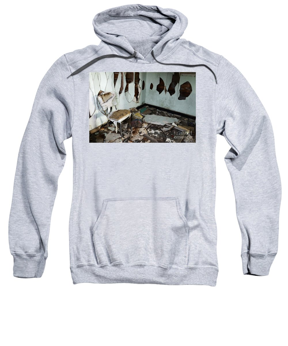 Mess Sweatshirt featuring the photograph One Mans Mess by Bob Christopher
