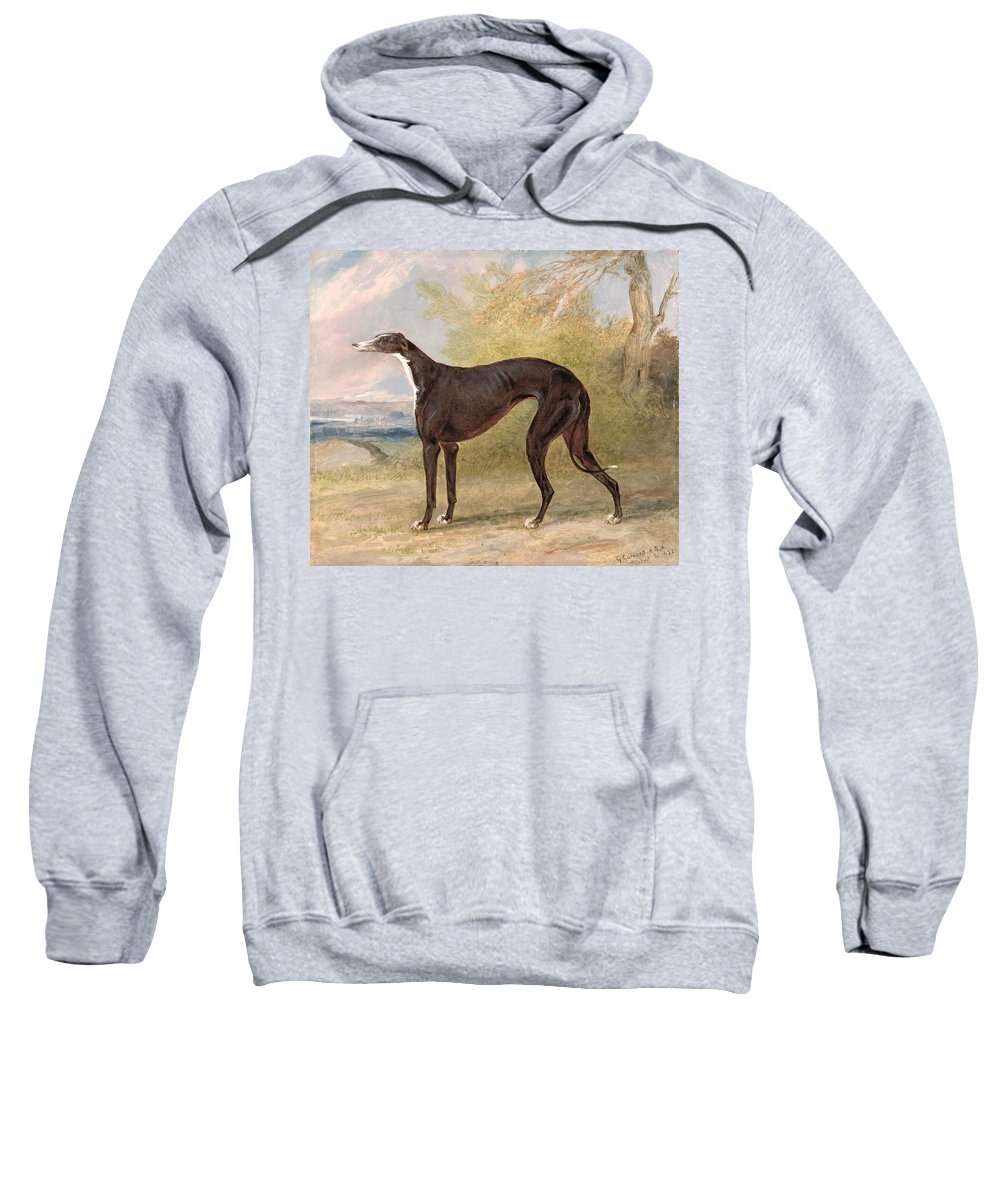 One Sweatshirt featuring the painting One Of George Lane Fox's Winning by George Garrard