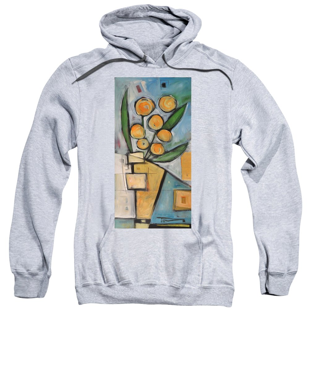 Flower Sweatshirt featuring the painting Orange Blossom Special by Tim Nyberg