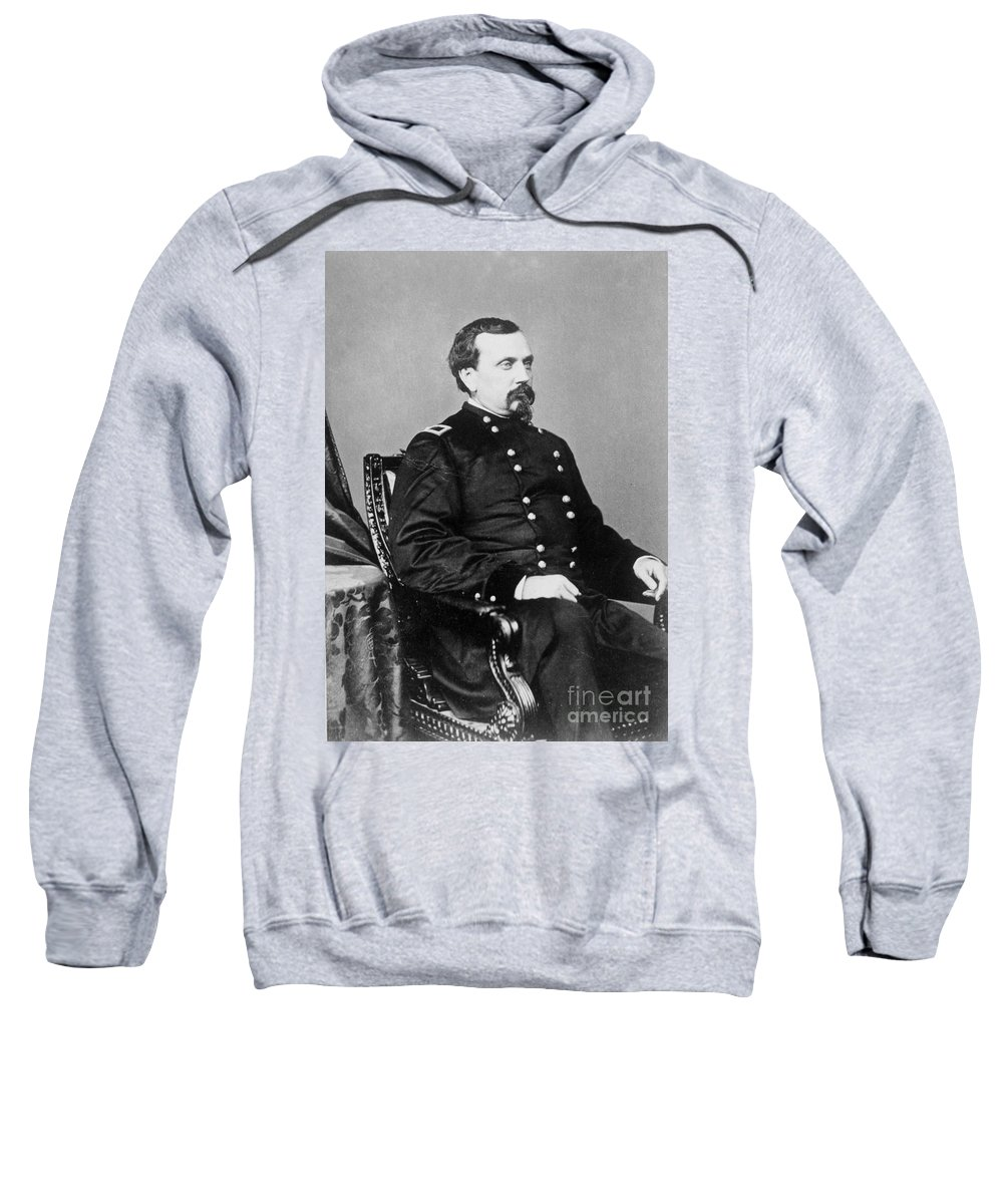 1860s Sweatshirt featuring the photograph Orville E. Babcock by Granger