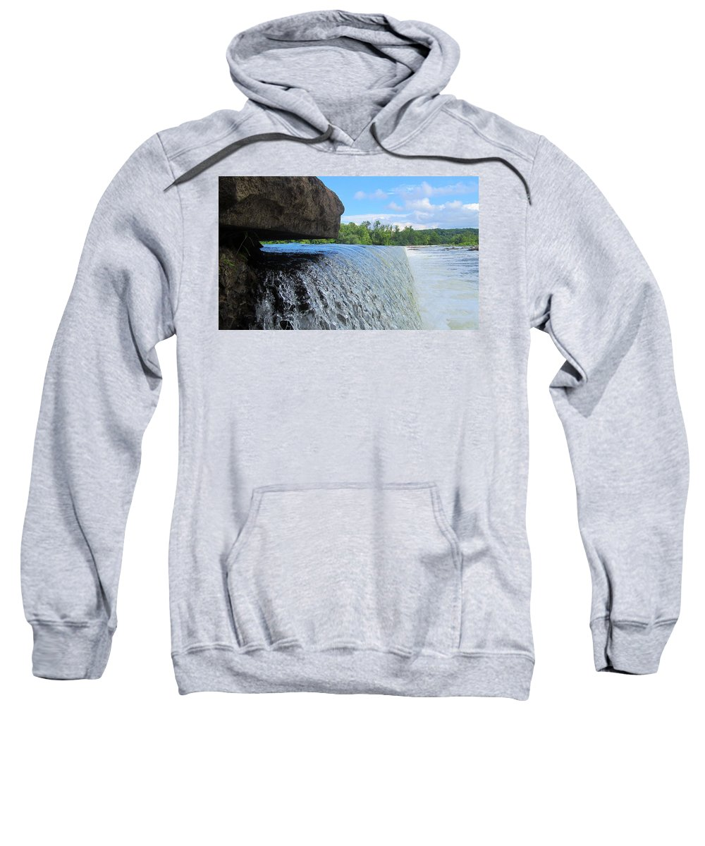 Virginia Sweatshirt featuring the photograph Over-flow by Phil Cappiali Jr