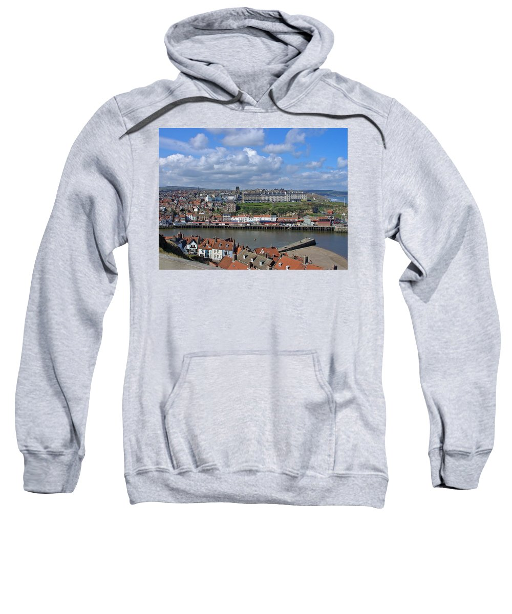 Cars Sweatshirt featuring the photograph Overlooking Whitby by Rod Johnson