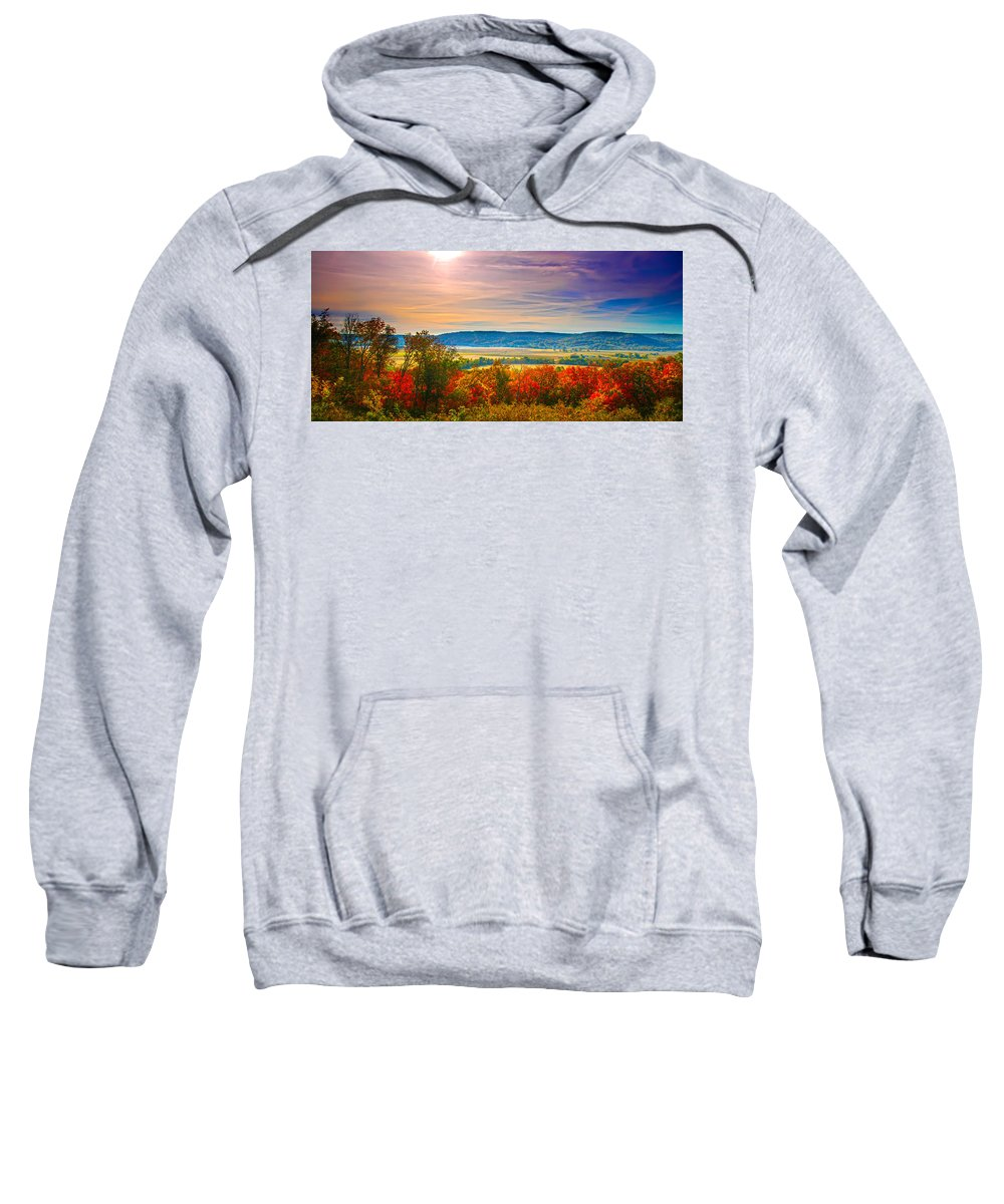 Scenic Sweatshirt featuring the photograph Paint Valley From Valley View Golf by Randall Branham