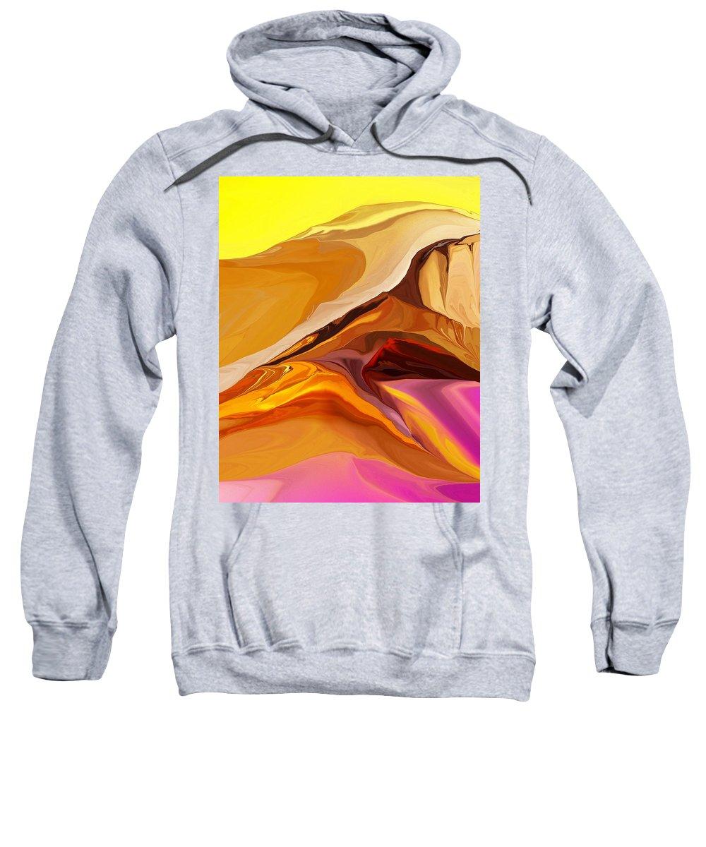 Fine Art Sweatshirt featuring the digital art Painted Desert 012612 by David Lane