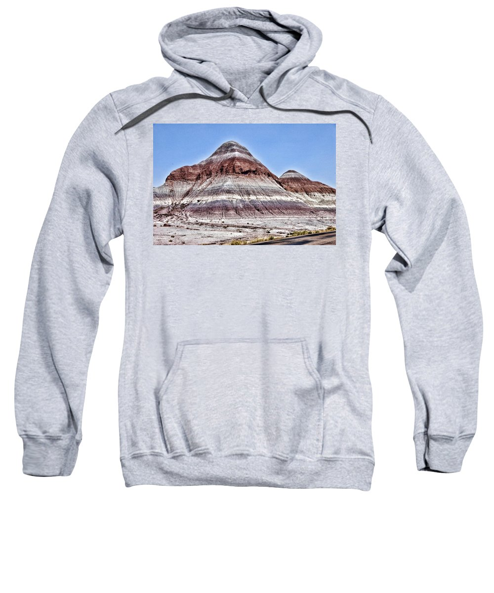 Petrified Forest Sweatshirt featuring the photograph Painted Desert Mounds by Jon Berghoff