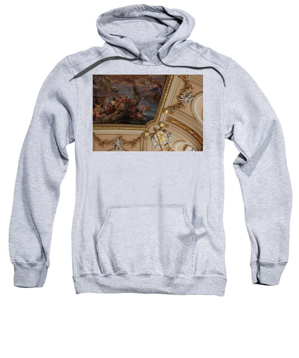 Madrid Sweatshirt featuring the photograph Palace Ceiling Detail by Lorraine Devon Wilke