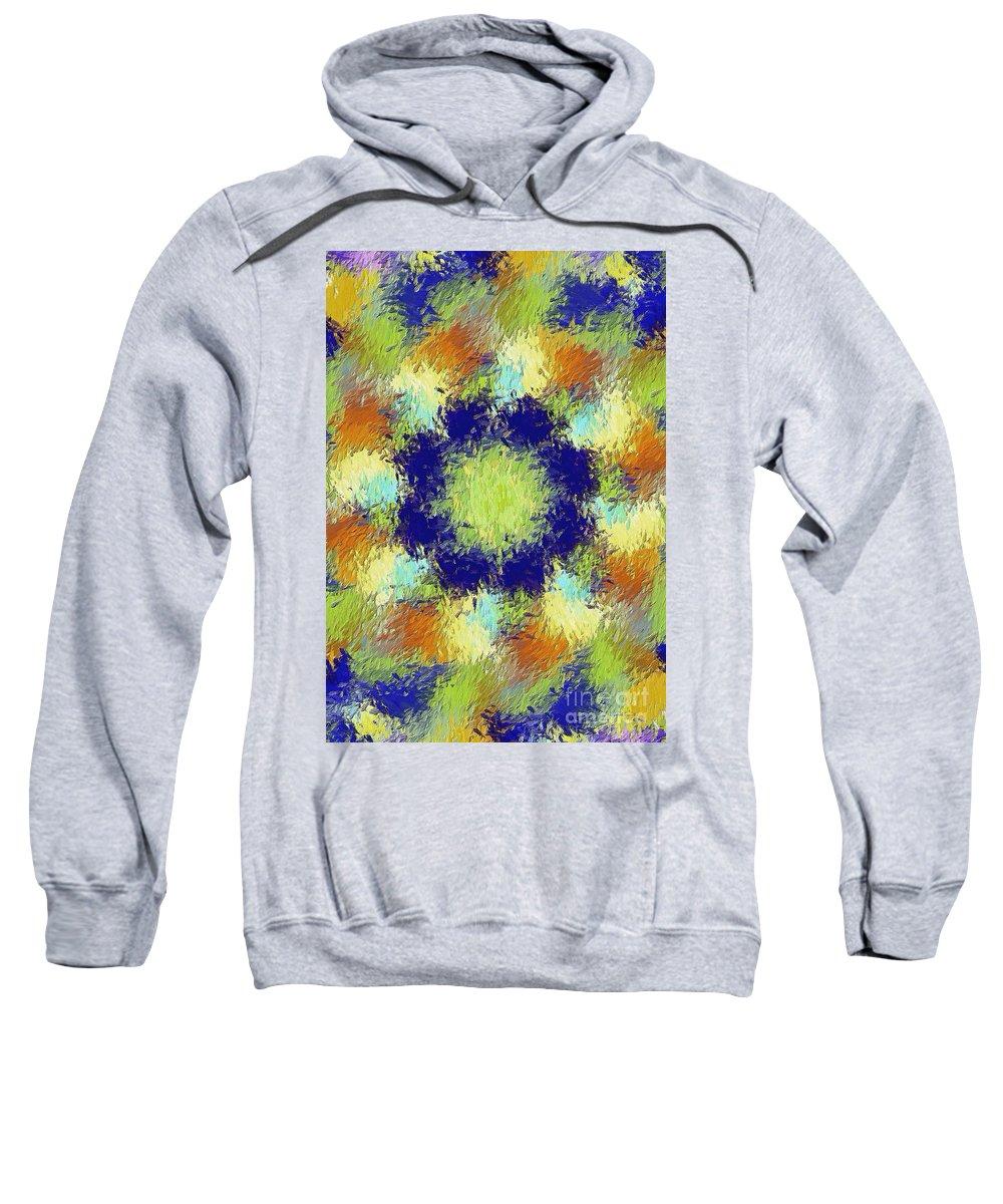 Abstract Sweatshirt featuring the digital art Pallet Of Colors by Deborah Benoit
