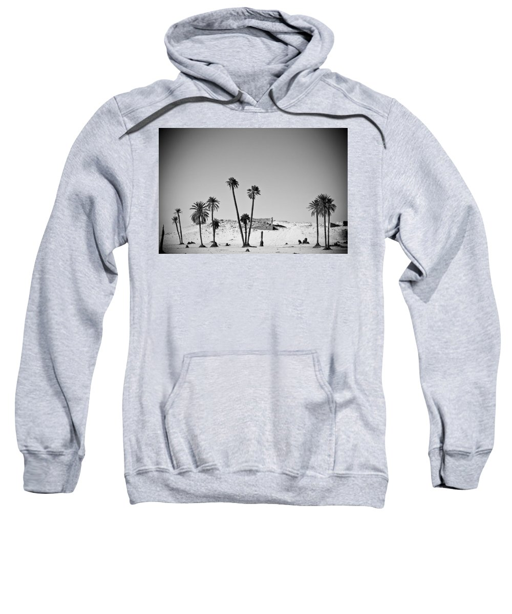 African Sweatshirt featuring the photograph Palm Trees In The Sahara Desert by David DuChemin