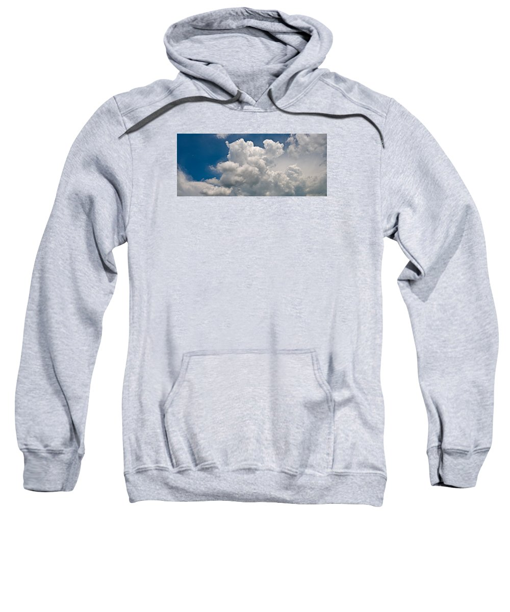 Cloud Sweatshirt featuring the photograph Panoramic Clouds Number 1 by Steve Gadomski