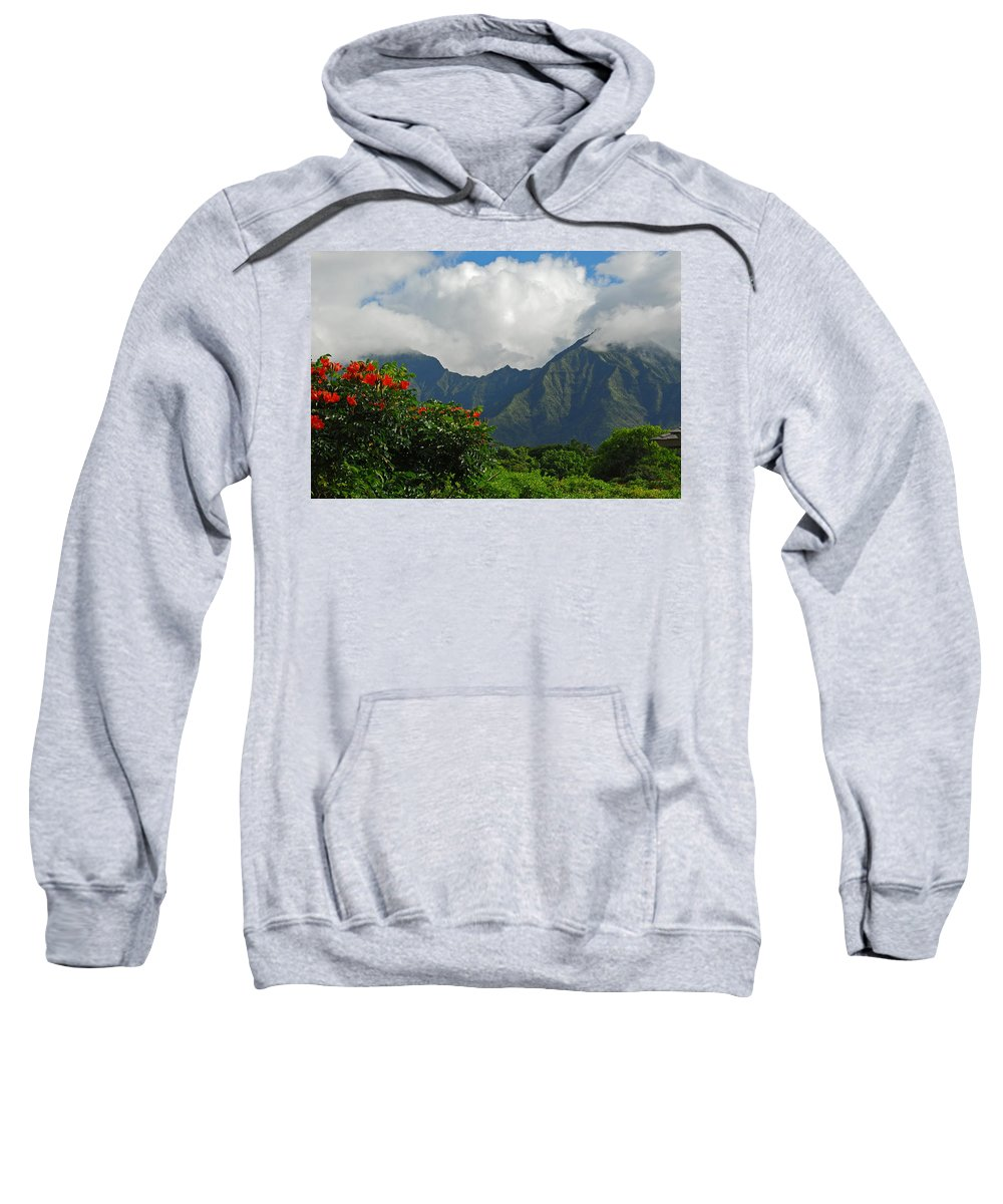 Princeville Sweatshirt featuring the photograph Paradise by Lynn Bauer