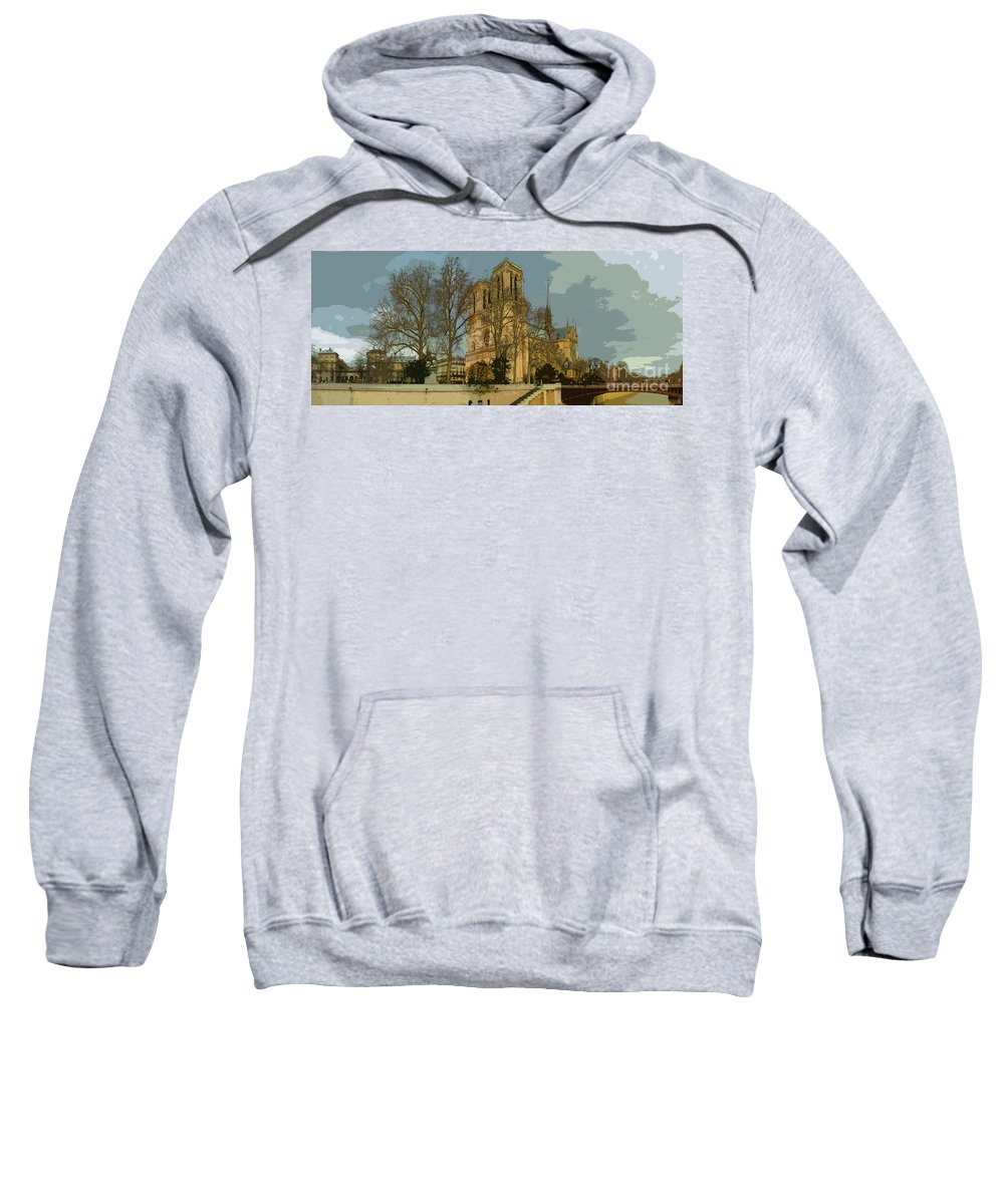 Paris Sweatshirt featuring the photograph Paris 03 by Yuriy Shevchuk