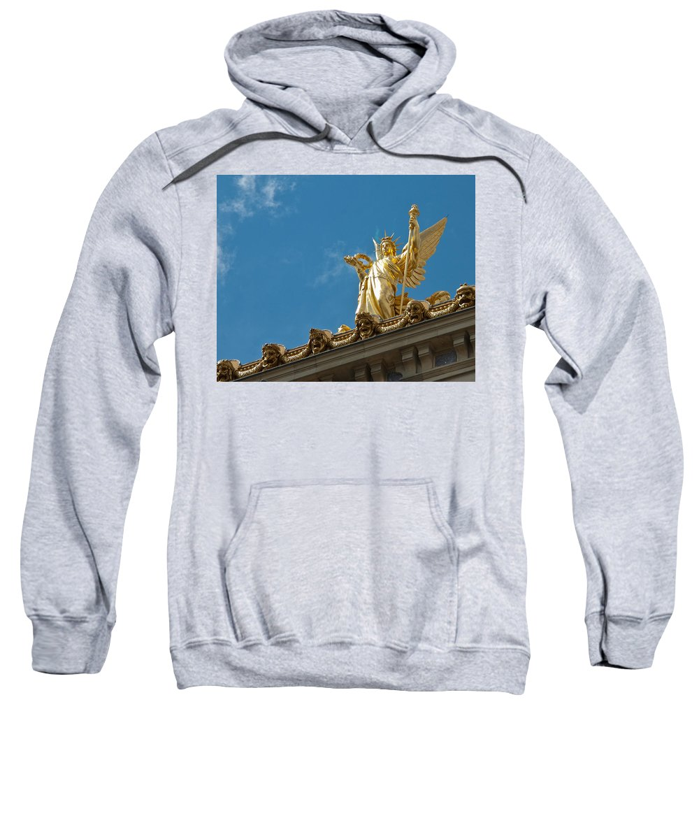 Paris Opera House Sweatshirt featuring the photograph Paris Opera House V  Exterior Facade by Jon Berghoff